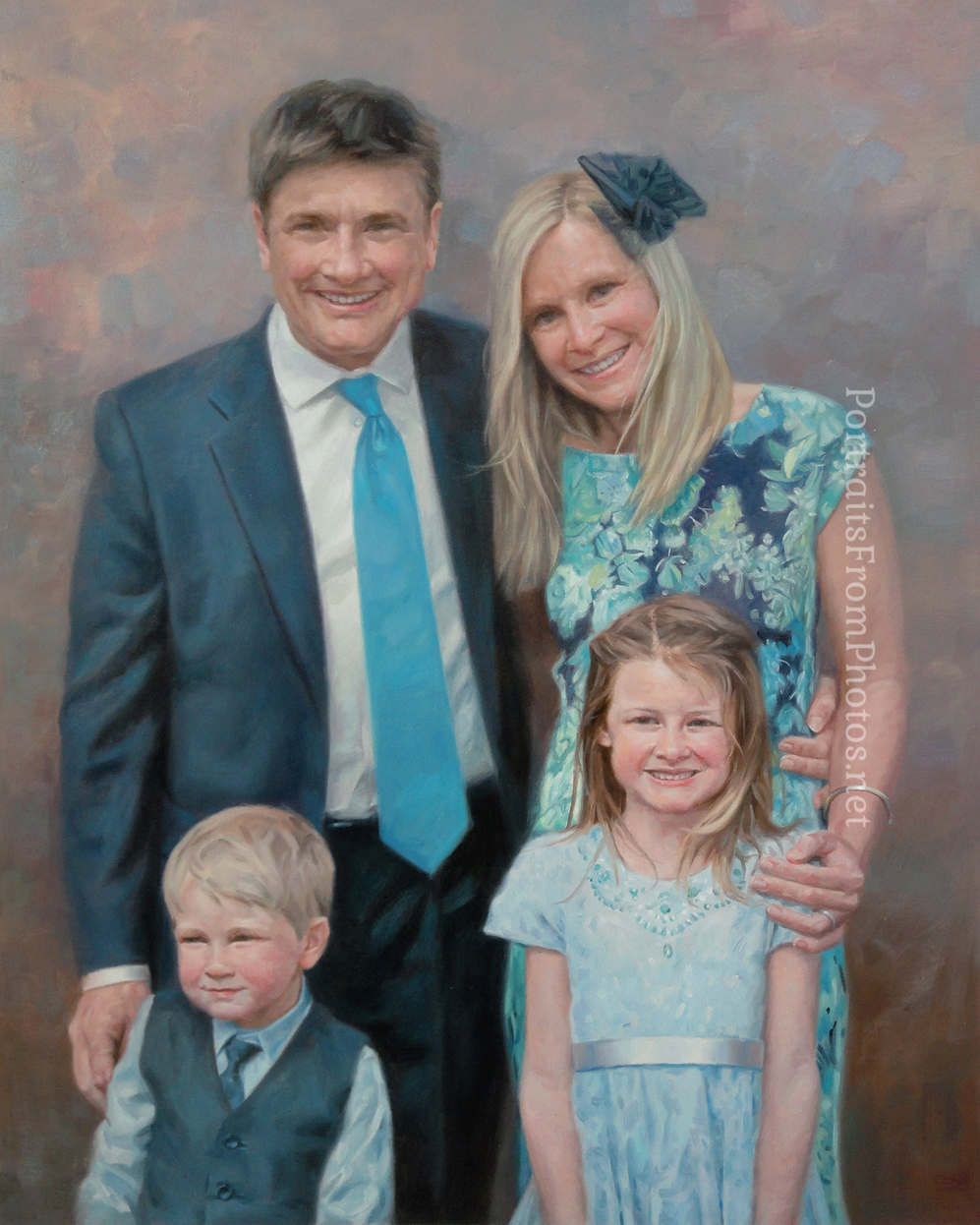 family portraits painted