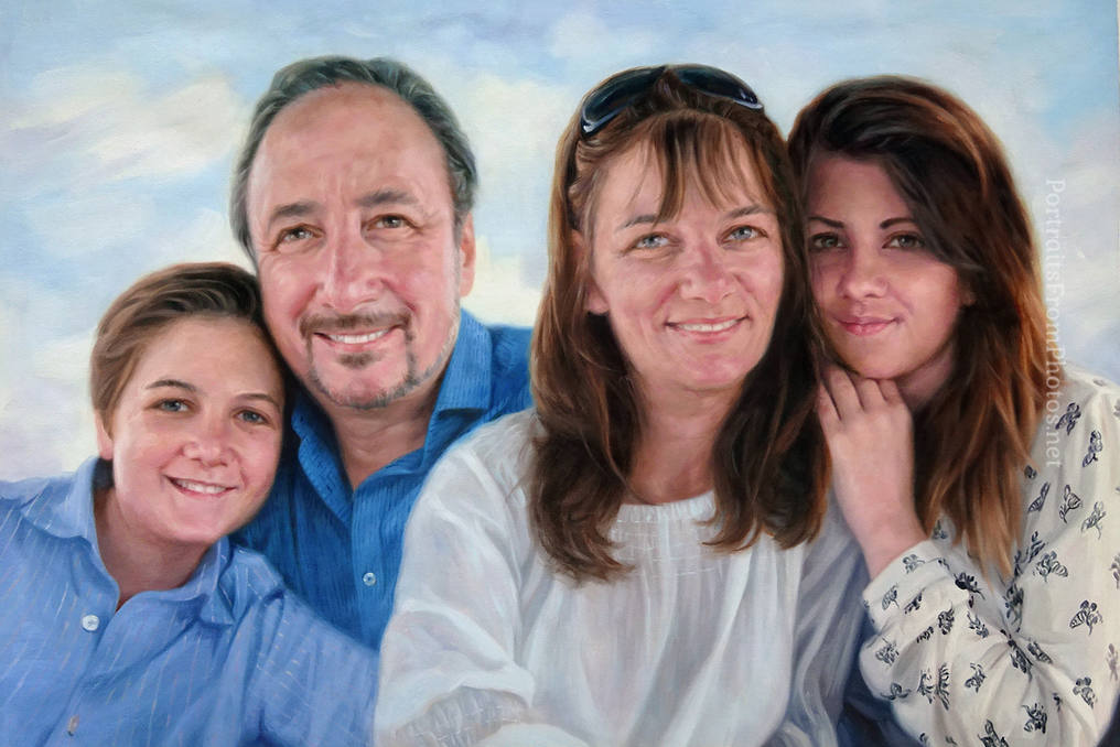 family oil painitng commissions