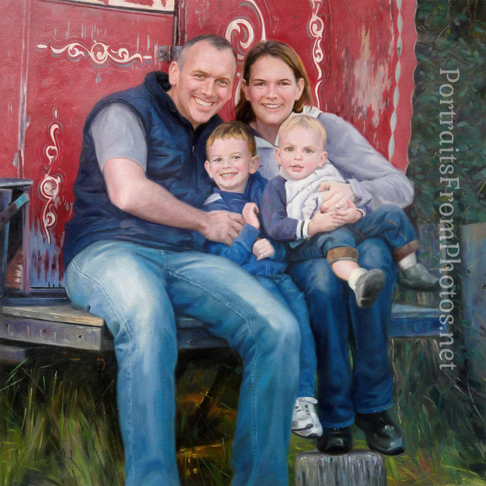 family oil portrait commissions