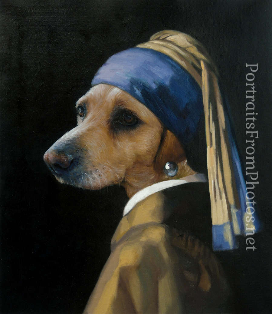 Portraits from photos uk portrait artists uk for Painting of your dog